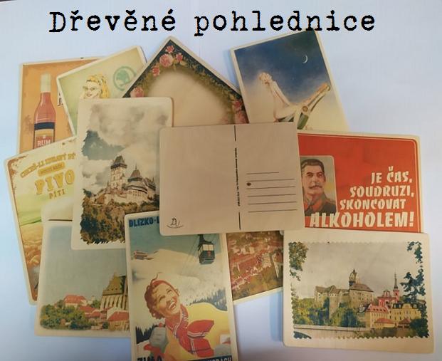 Dřevěné pohlednice