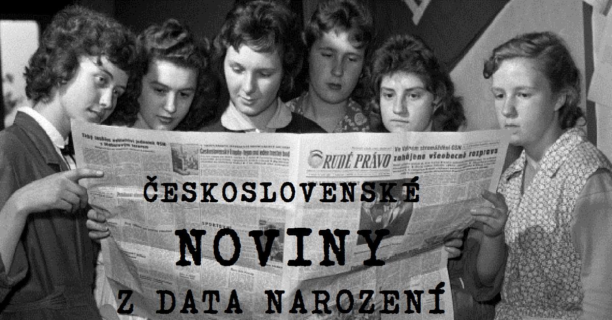 Noviny z data narození