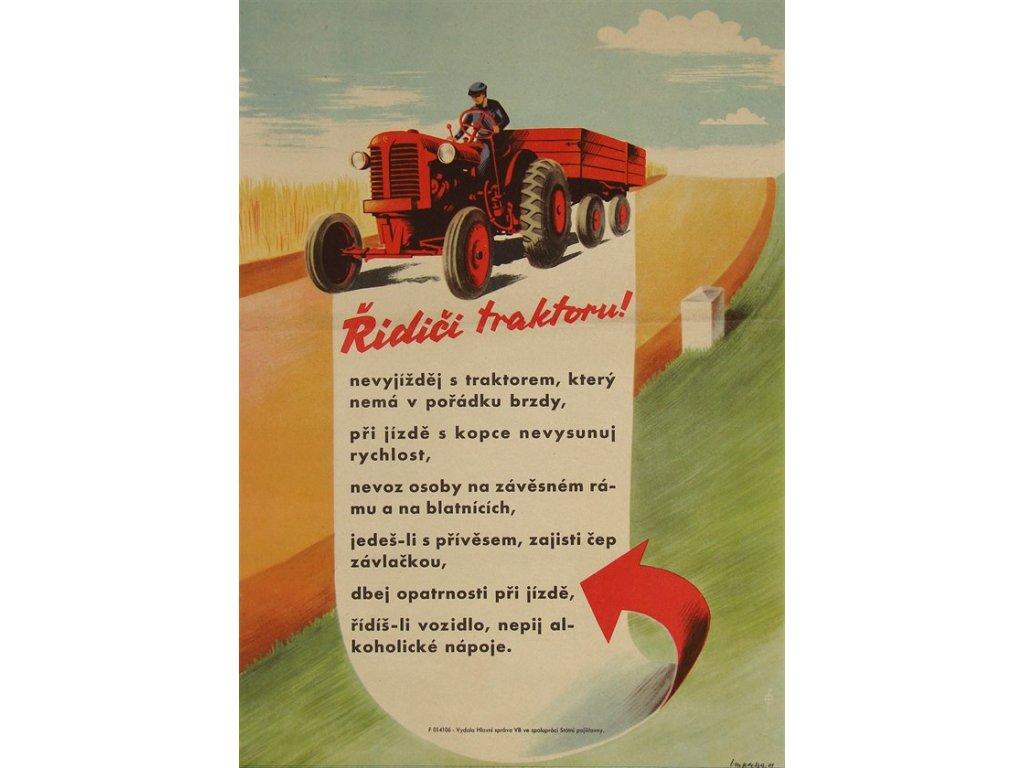 řidiči traktoru