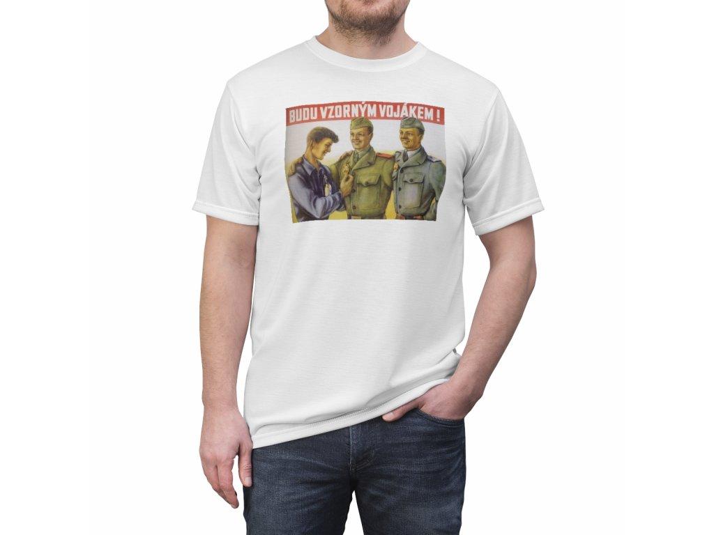 Retro tričko - Budu vzorným vojákem