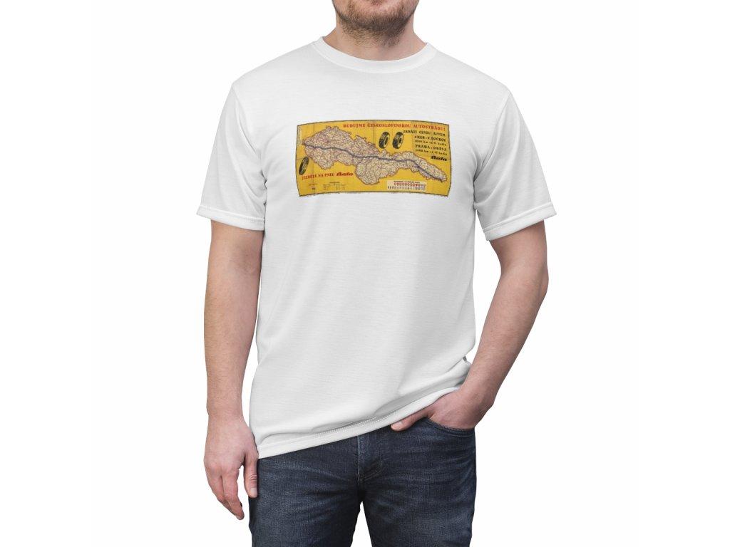 Retro tričko - Budujme Československou autostrádu
