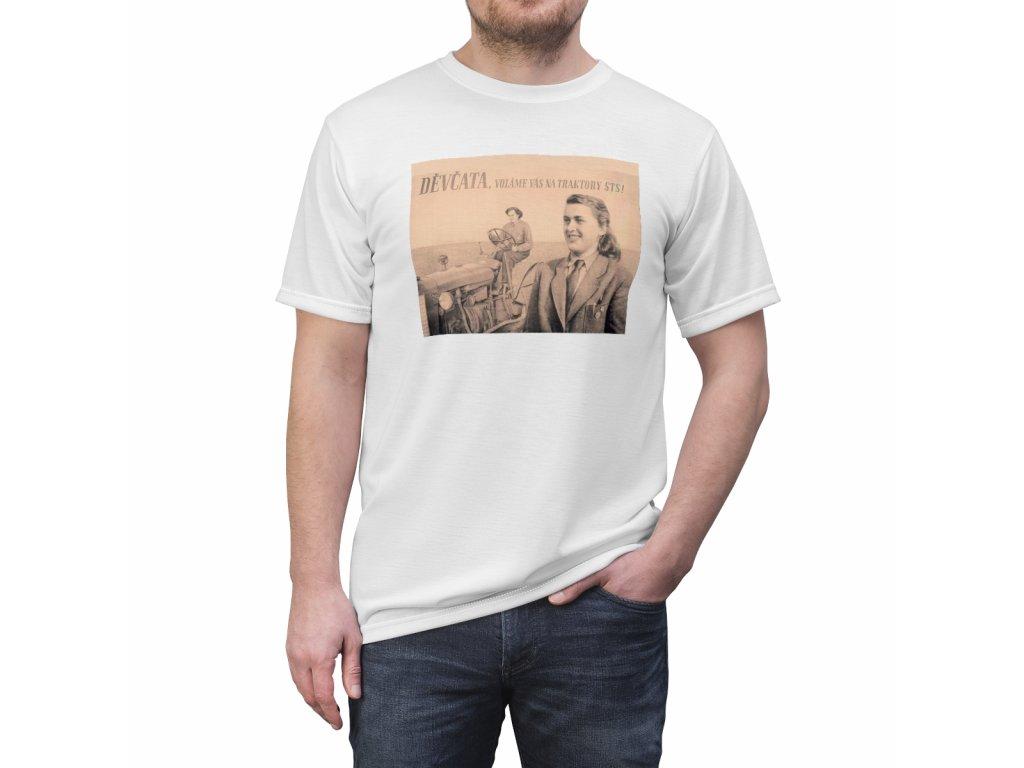 Retro tričko - Děvčata voláme vás