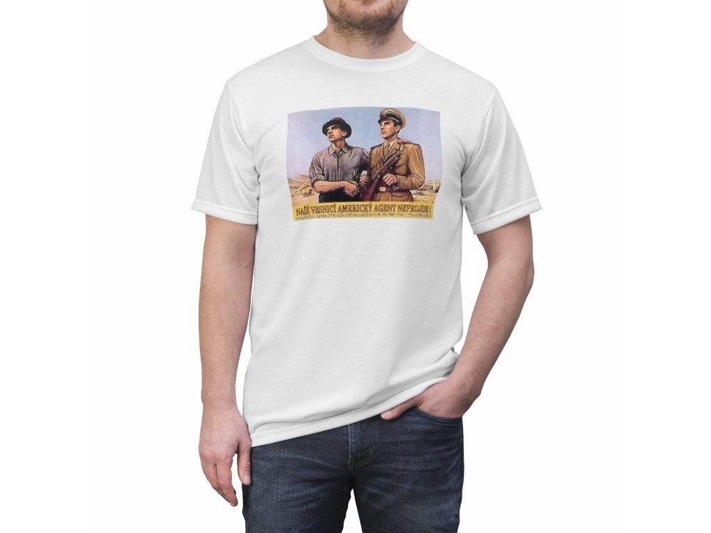 Retro tričko - Naší vesnicí americký agent neprojde