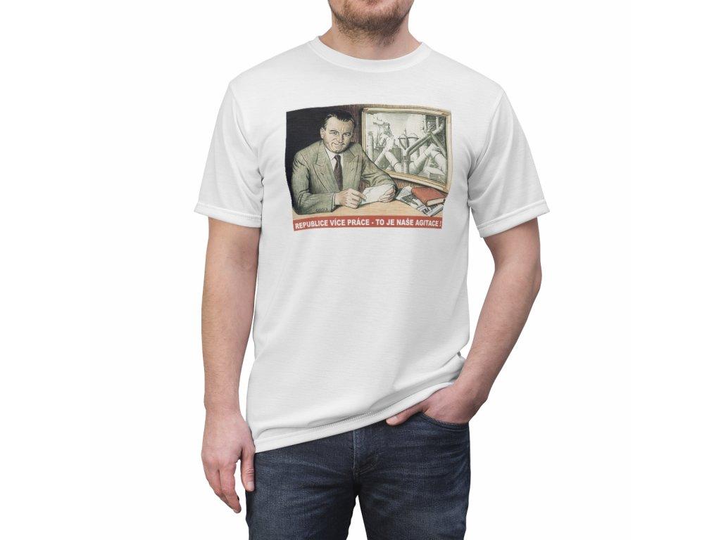 Retro tričko - Republice více práce, to je naše agitace