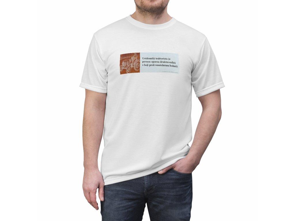 Retro tričko - Uvědomělý traktorista