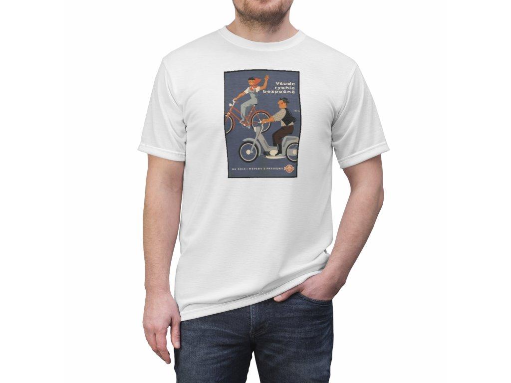 Retro tričko - Všude rychle bezpečně