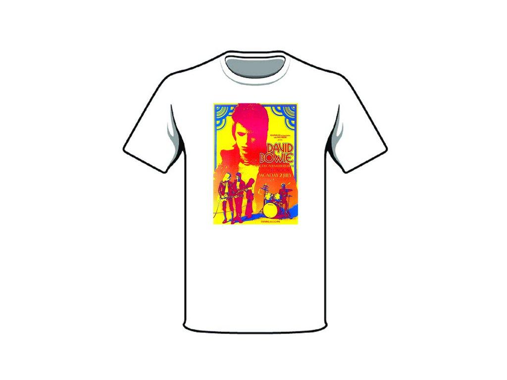 tričko značka david bowie