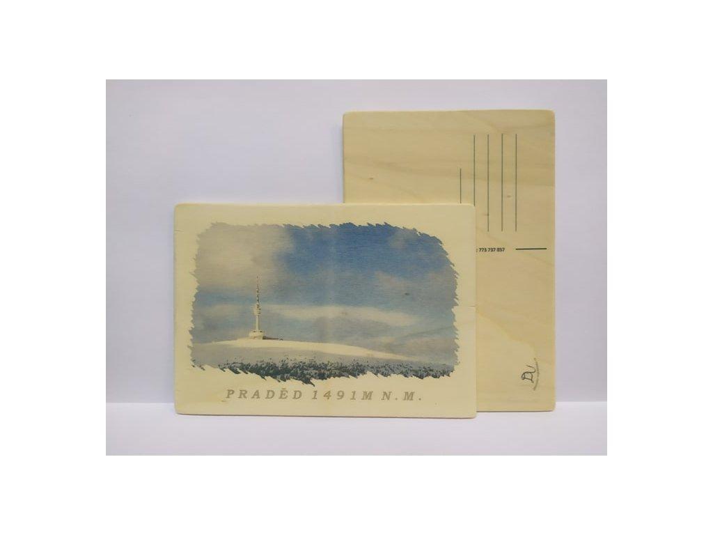 drevena pohlednice praděd
