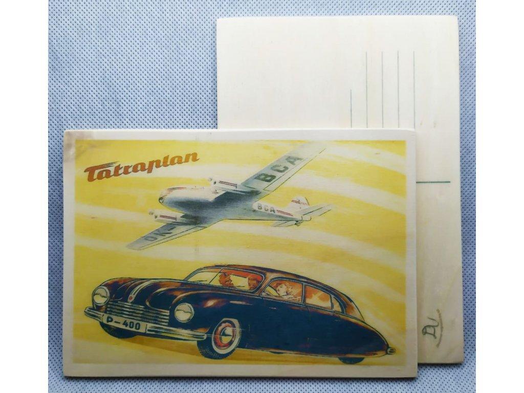 dřevěná pohlednice TATRAPLAN