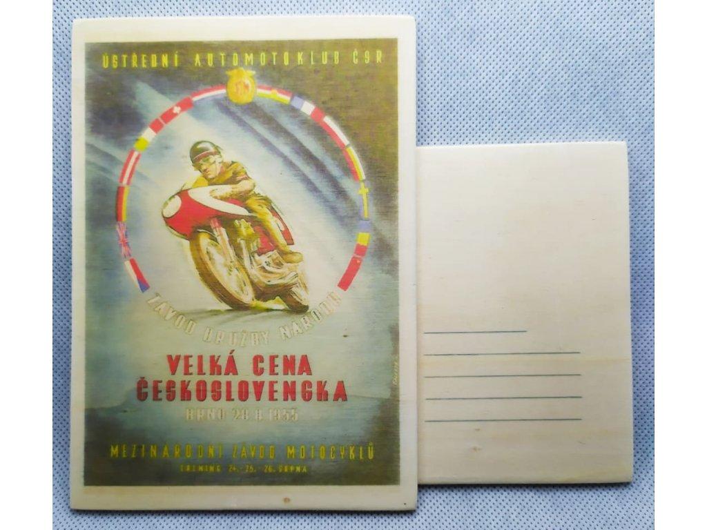 dřevěná pohlednice VELKÁ CENA