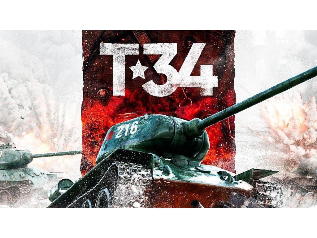 Plechová retro cedule / plakát - T-34