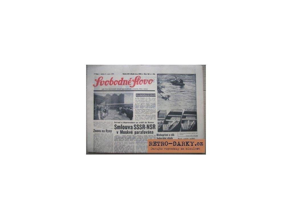 Noviny ze dne narození - Svobodné slovo