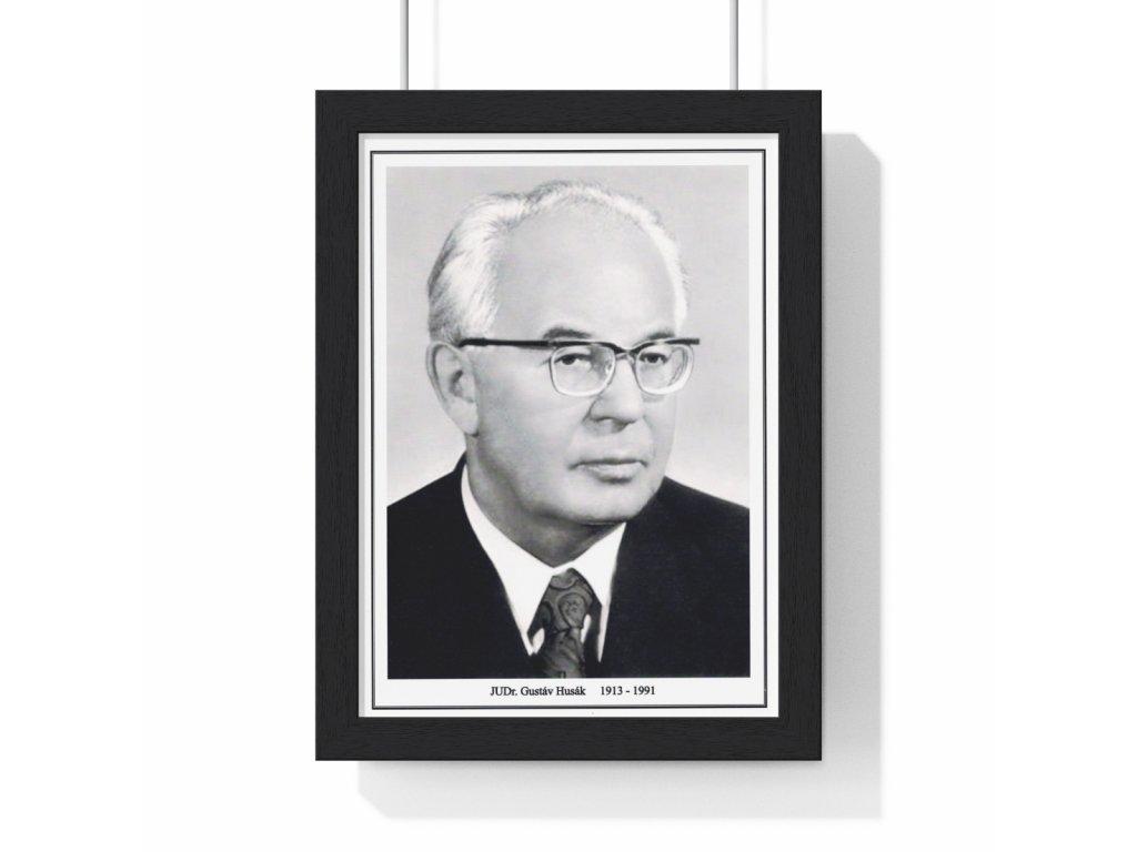 Obraz prezidenta Gustáva Husáka - retro dárek