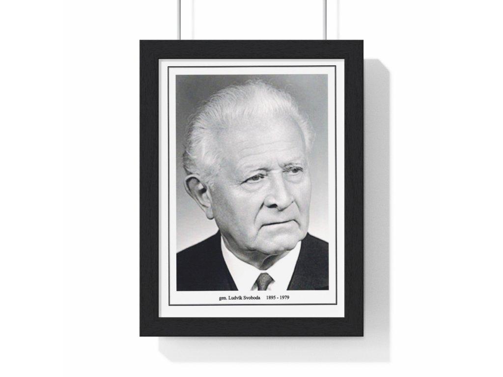 Obraz prezidenta Ludvíka Svobody - retro dárek