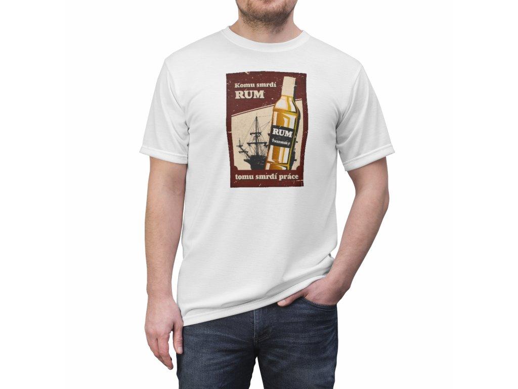 Retro tričko - Komu smrdí rum