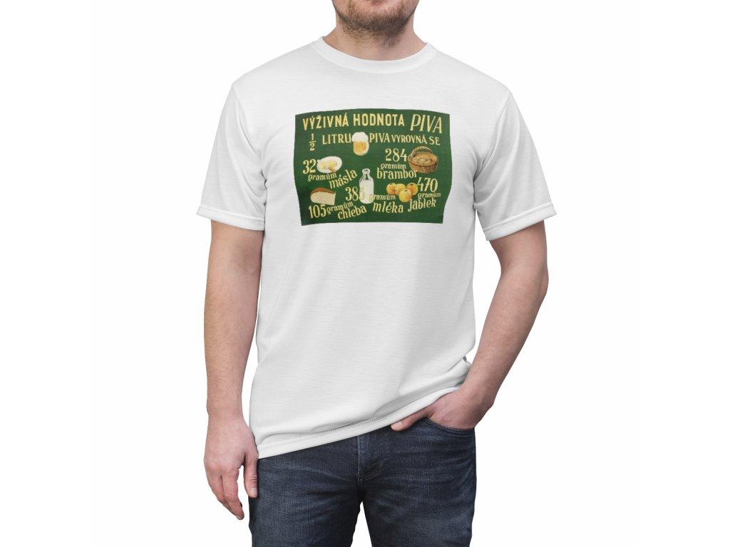 Retro tričko - Výživná hodnota piva