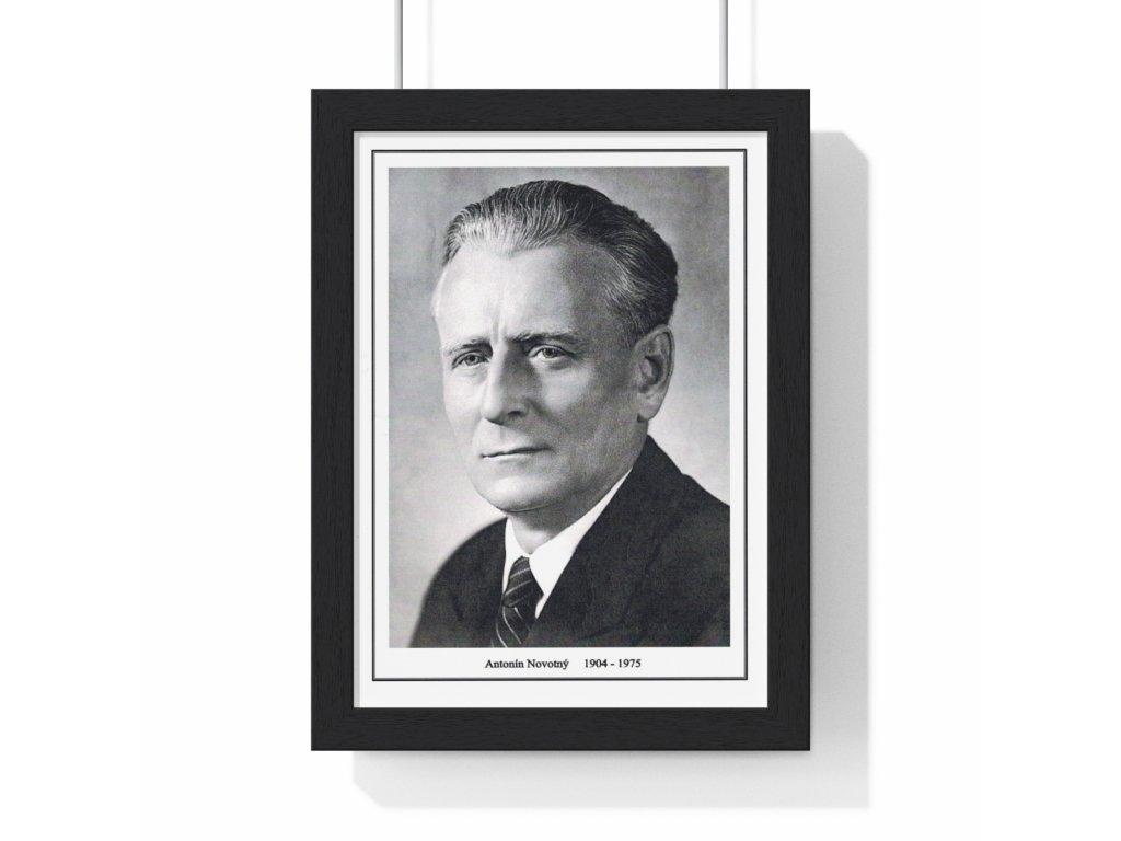Obraz prezidenta Antonína Novotného - retro dárek