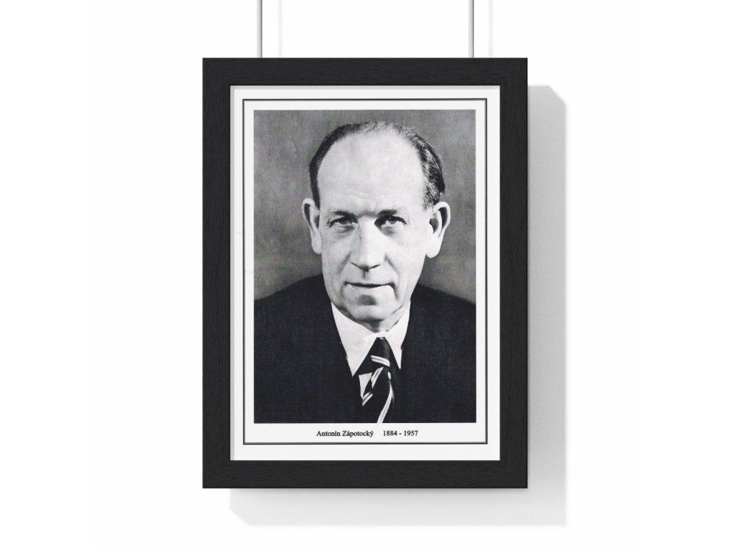 Obraz prezidenta Antonína Zápotockého - retro dárek