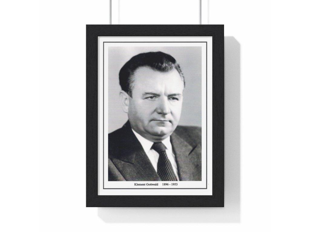 Obraz prezidenta Klementa Gottwalda - retro dárek