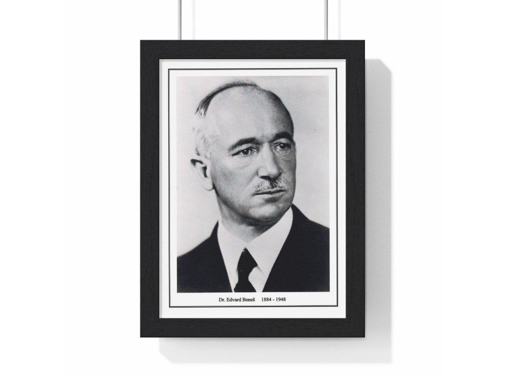 Obraz prezidenta Edvarda Beneše - retro dárek