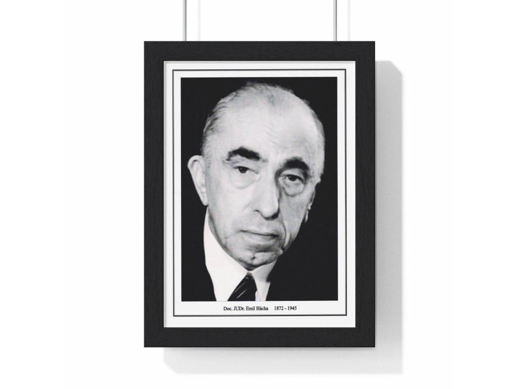 Obraz prezidenta Emila Háchy - retro dárek