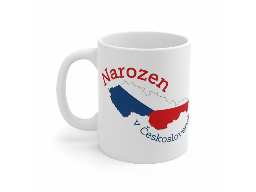 Retro hrnek - Narozen v Československu