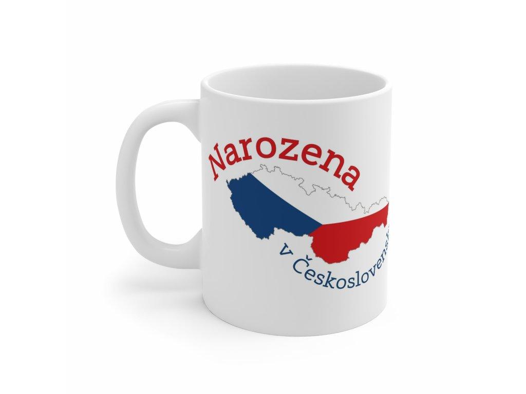 Retro hrnek - Narozena v Československu