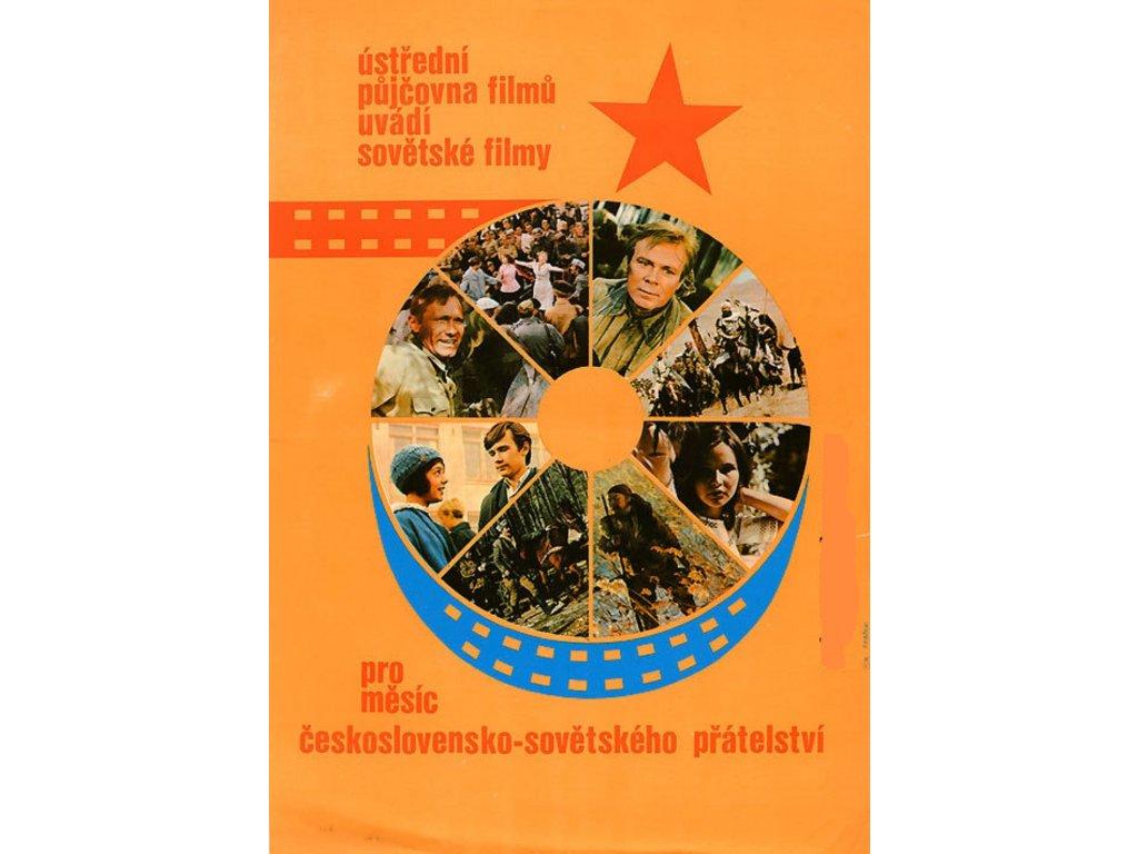 Plechová retro cedule / plakát - Ústřední půjčovna filmů...