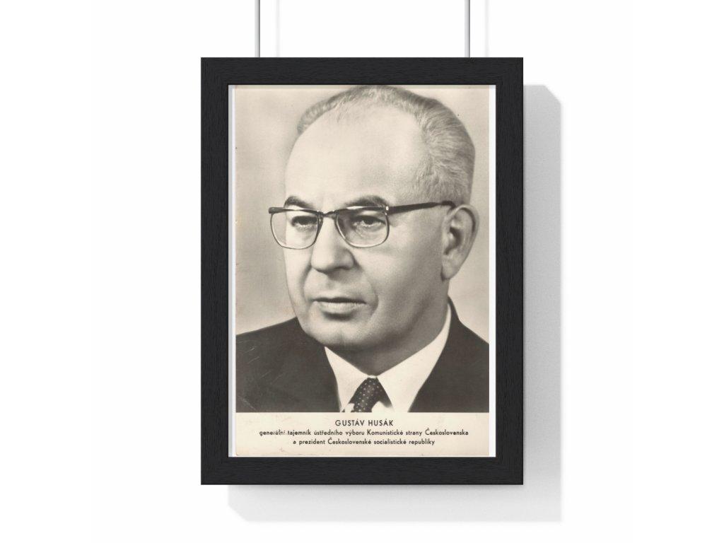 Obraz prezidenta Gustáva Husáka, var. 2 - retro dárek