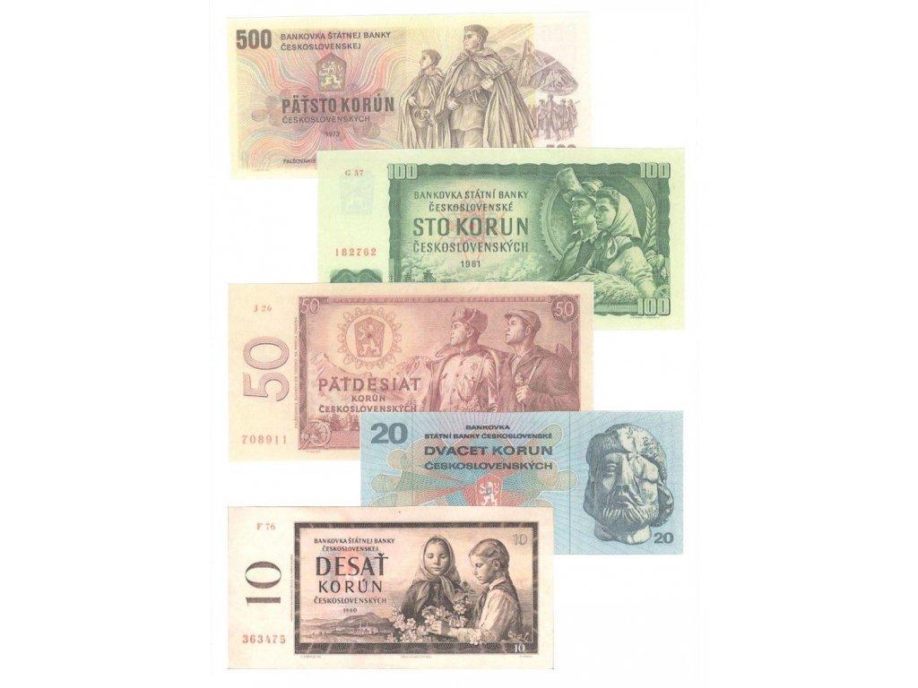 Sada bankovek ČSSR jako retro dárek var 1