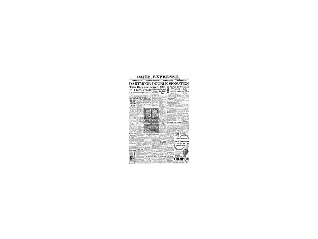 Noviny ze dne narození - Daily Express