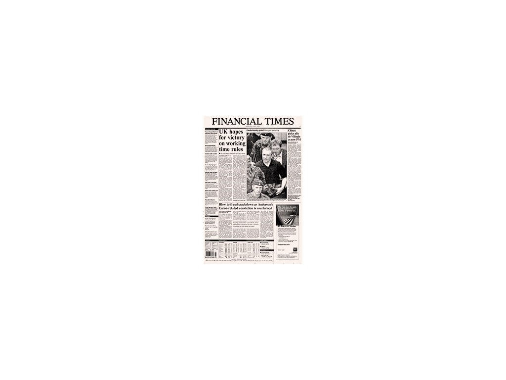 Noviny ze dne narození - Financial Times