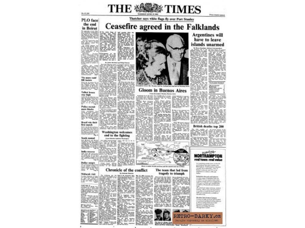Noviny ze dne narození - The Times