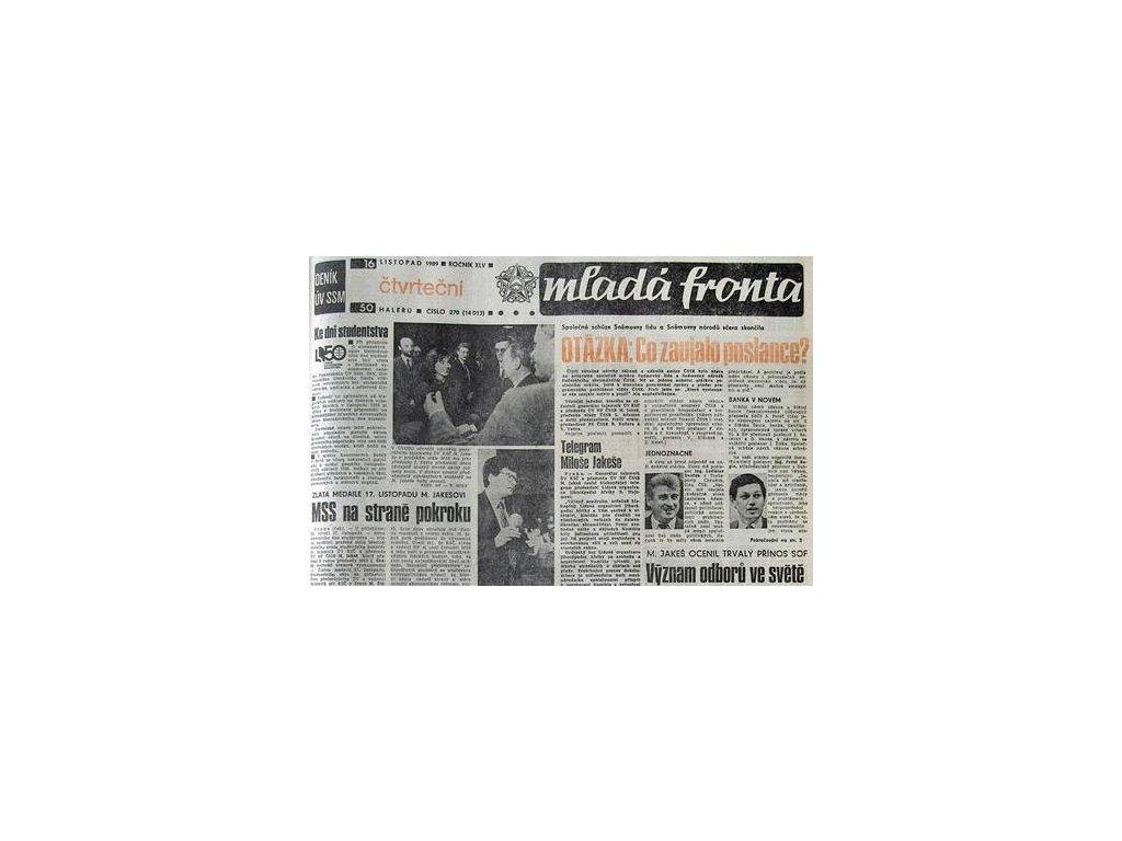 Noviny ze dne narození - Madá fronta