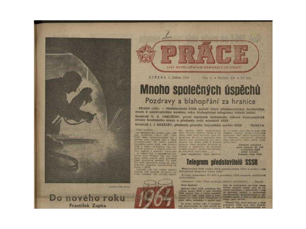 Noviny ze dne narození - Práce