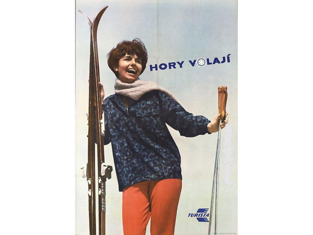 Reklamní plakát / Plechová cedule - Hory volají
