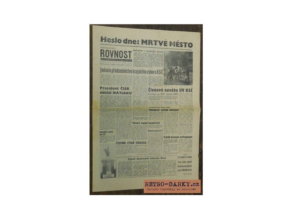 Noviny ze dne narození - Rovnost