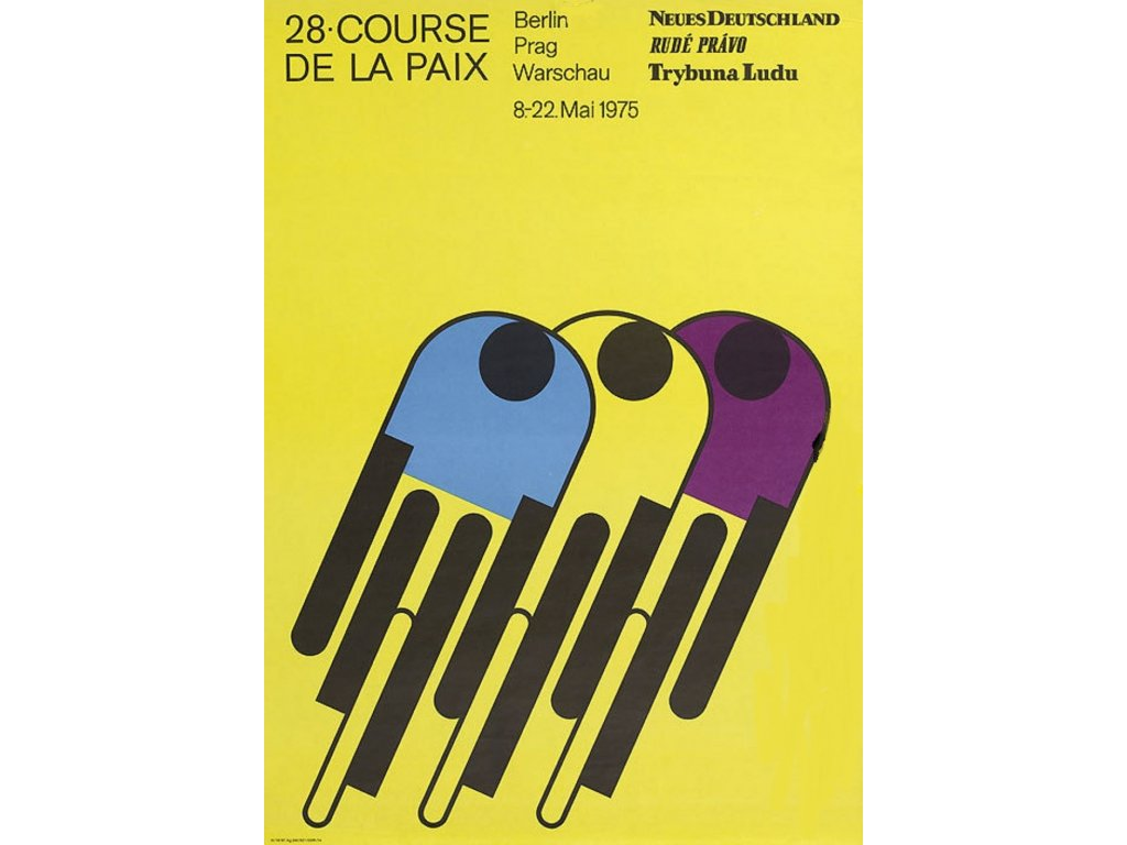 Plechová retro cedule / plakát  - Závod míru 1975