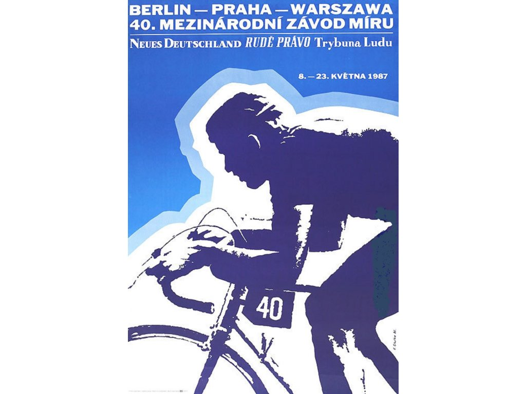 Plechová retro cedule / plakát - Závod míru 1987