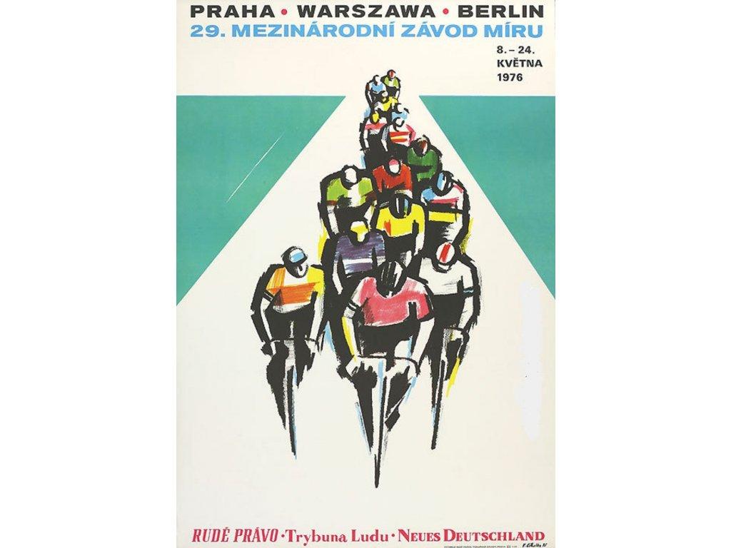 Plechová retro cedule / plakát  - Závod míru 1976