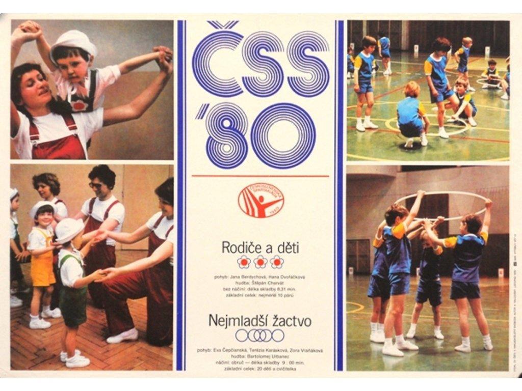 Sportovní plakát / Plechová cedule - Spartakiáda 1980