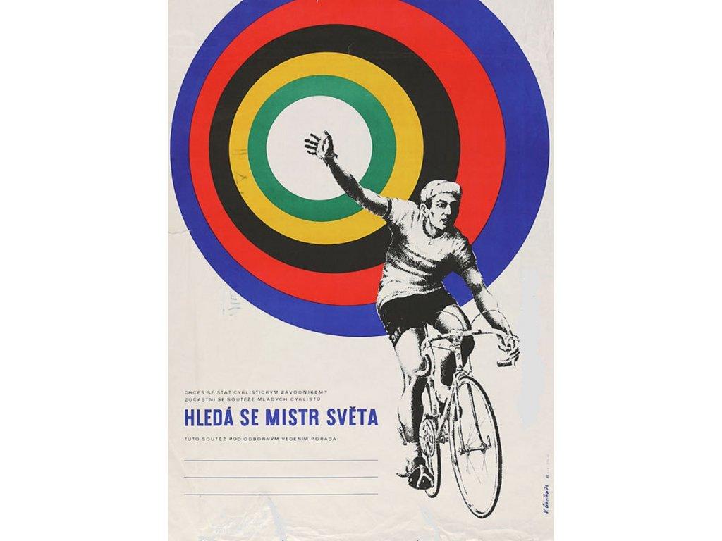 Sportovní plakát / Plechová cedule - Hledá se mistr světa