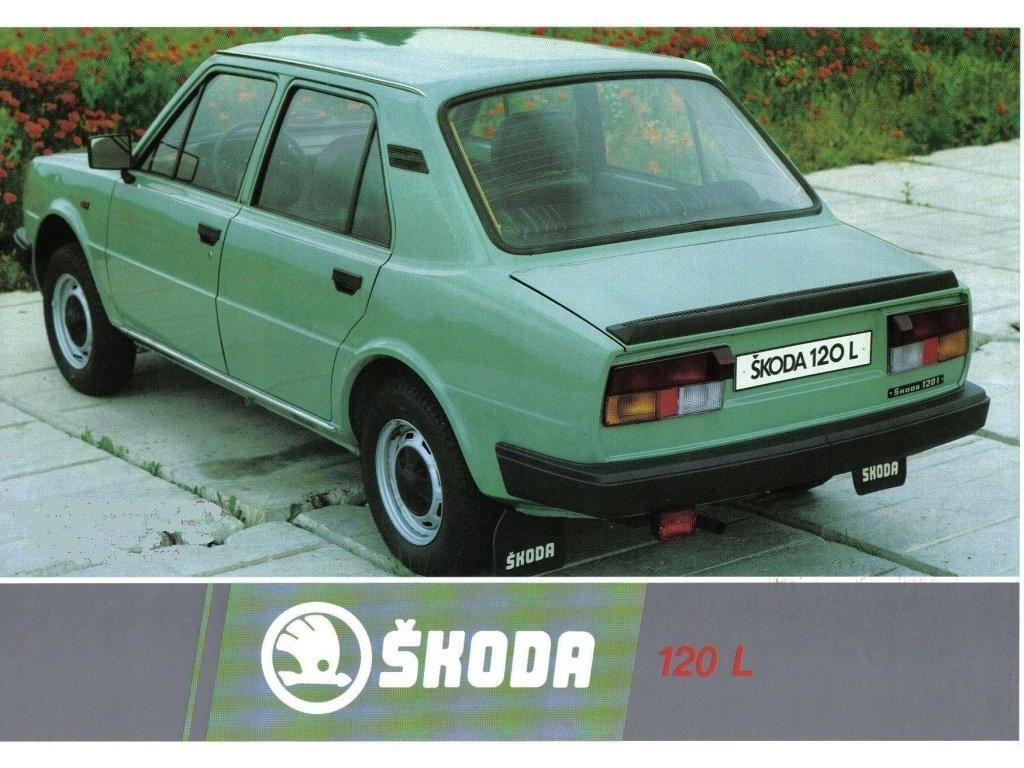 Plechová retro cedule / plakát - Škoda 120L