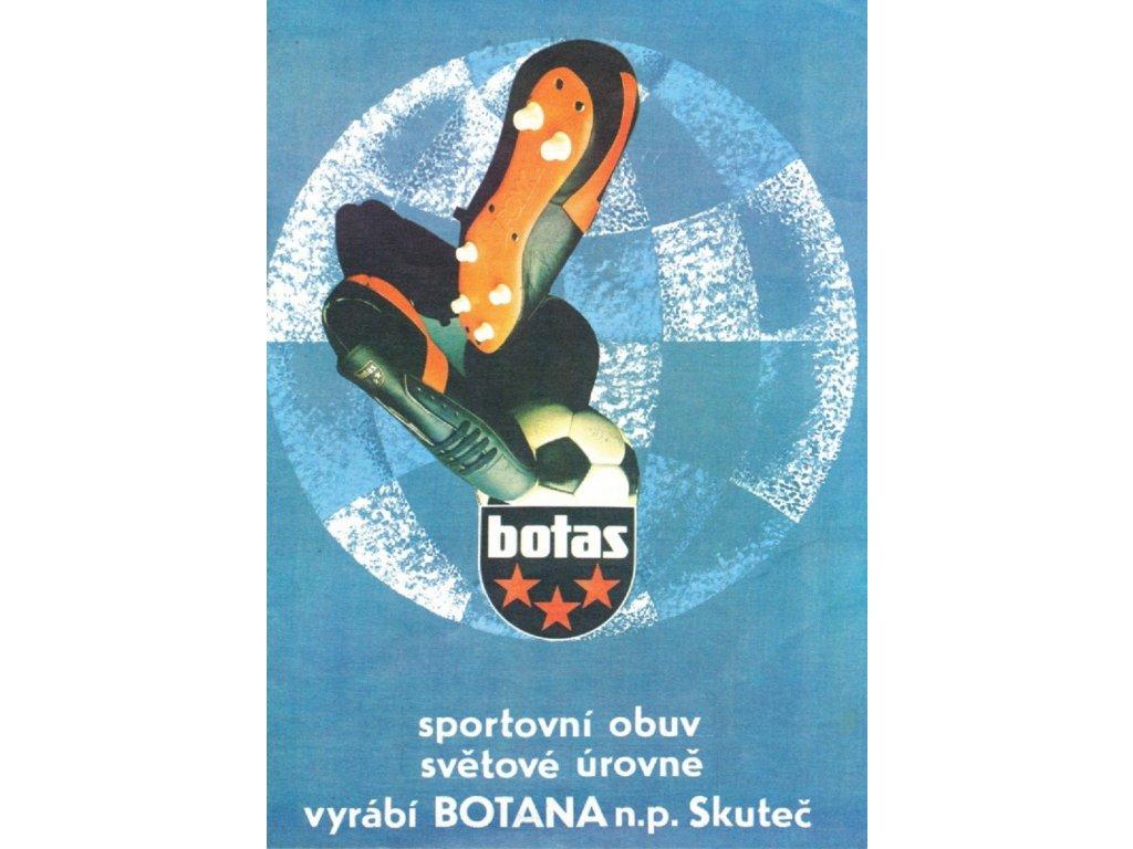 Plechová retro cedule / plakát - Botas