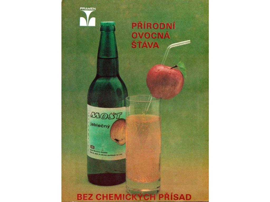 Reklamní plakát / Plechová cedule - Mošt