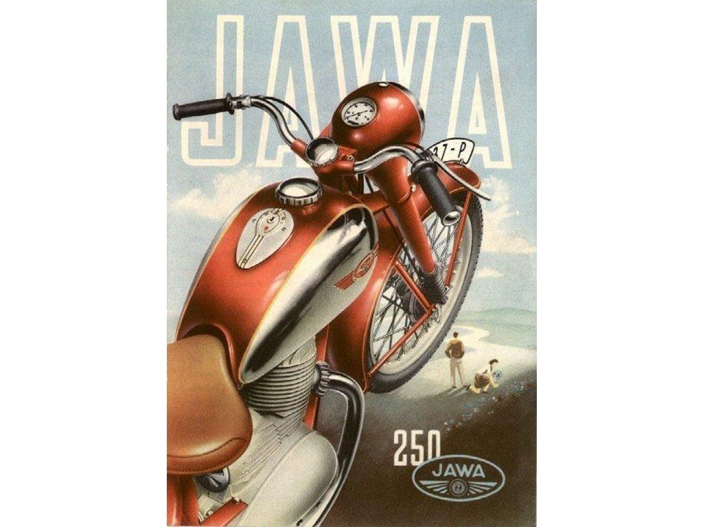 Reklamní plakát / Plechová cedule - Jawa 250