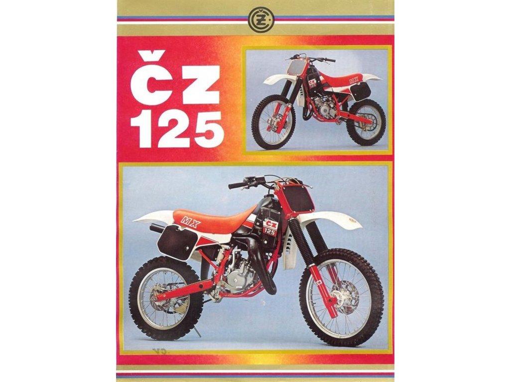 Plechová retro cedule / plakát - ČZ 125