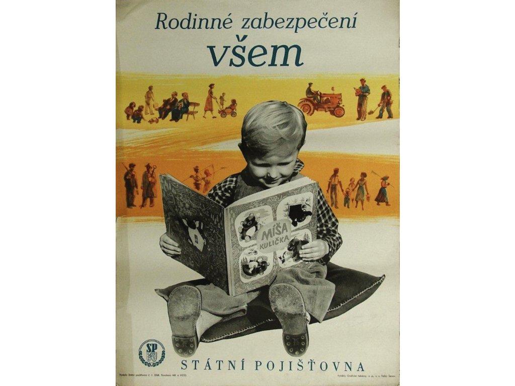 Reklamní plakát / Plechová cedule - Rodinné zabezpečení všem