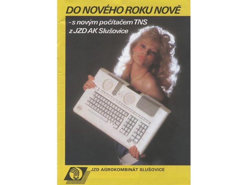 Plechová retro cedule / plakát -  JZD Agrokombinát Slušovice