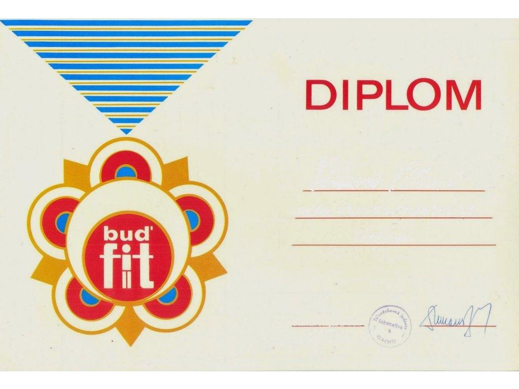Diplom Bud fit jako retro dárek